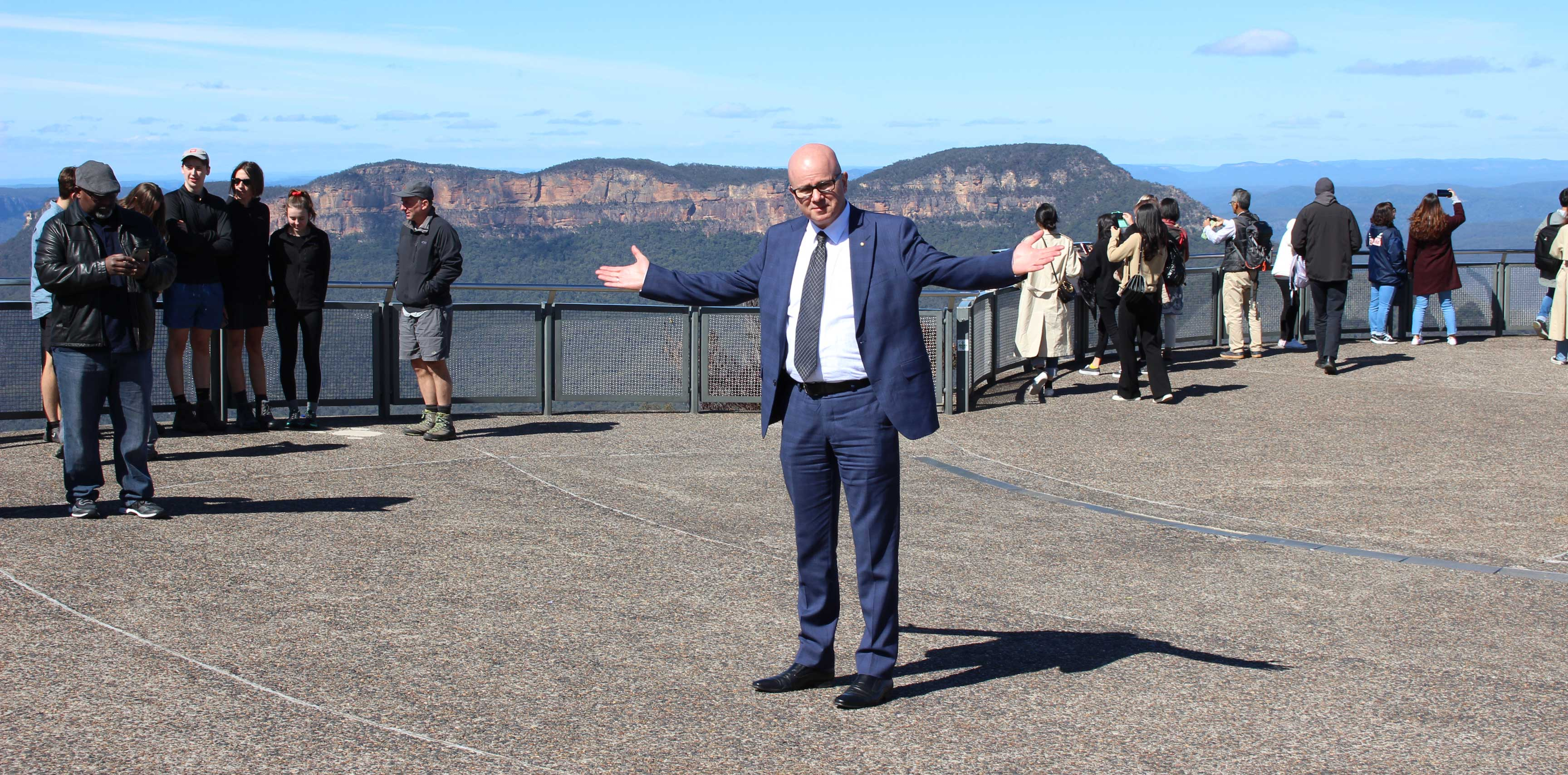 Mayor Mark Greenhill at Echo Point